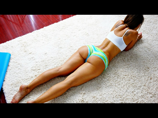 Sexy Athletic Thighs and Bubble Butt Home Workout! w Vicky Justiz