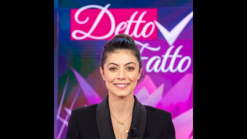 Alessandra Mastronardi as a special guest at Detto Fatto ИТАЛКИНО