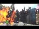 Gaza Frauen des islamischen Dschihad marschieren voll verschleiert und schwer bewaffnet auf