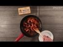 Креветки с пастой и кавказским сыром mp4