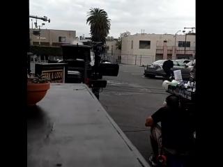 Крис О'Доннелл и LL Cool J за кулисами 9 сезона.
