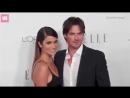 Nikki Reed Dazzles in a elegant black gown with husband Ian Somerhalder at Elle
