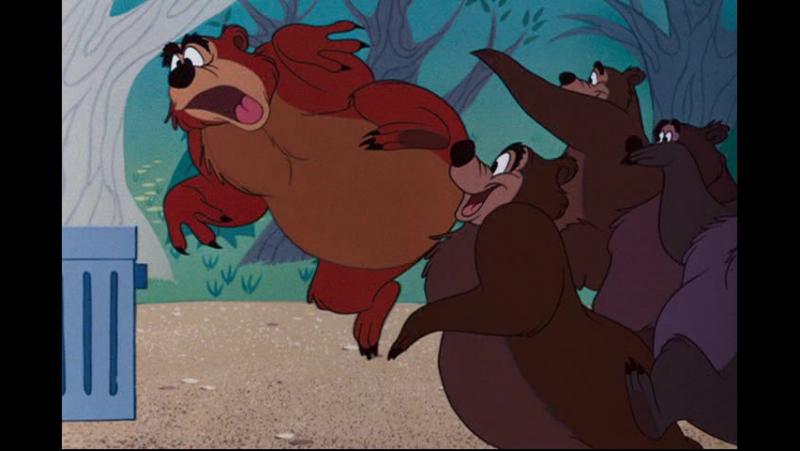 Дональд Дак Хамфри медведь Не буди медведя 13 8 1954 Grin and Bear It