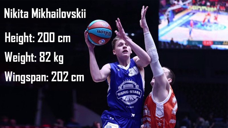 NIKITA MIKHAILOVSKII (guard, 200 cm, d.o.b. 10.09.2000) at Russian U18 semifinals