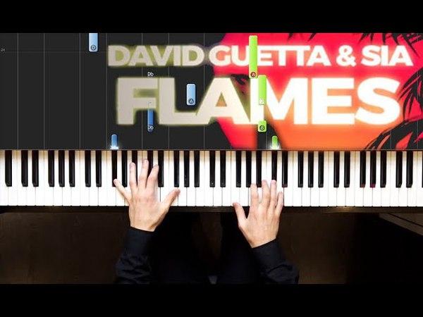David Guetta Sia - Flames | На пианино | Ноты