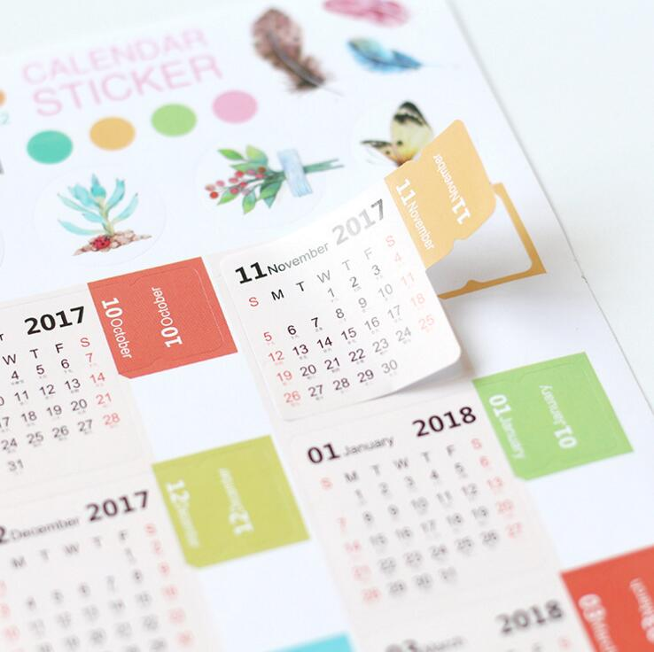 Наклейки-календарики 087 079