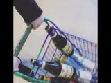 Алексей Панин и Анна Панина в супермаркете