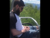 rocking Island Breeze on a chairlift