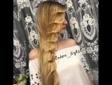 Очень нежная прическа на длинные волосы