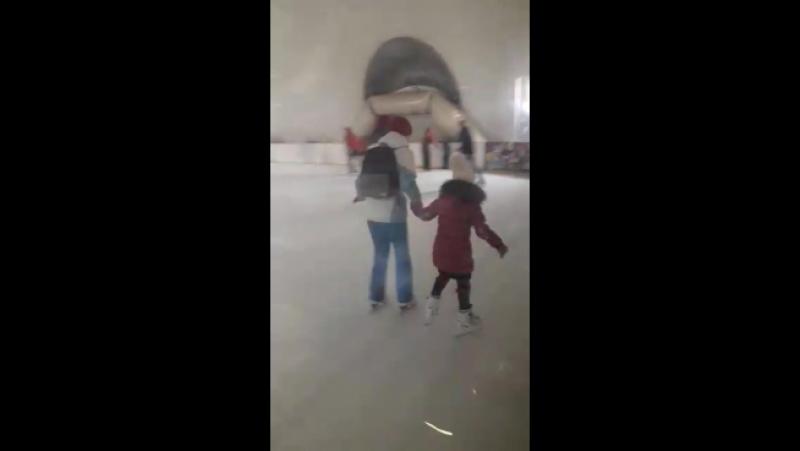 мой ангелок второй день на льду, а кататься лучше мамы
