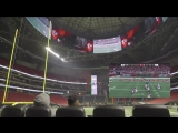 Atlanta Falcons Players playing Xbox One X on stadium bigscreen
