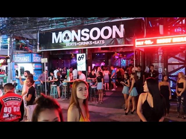 WALKING TOUR 2016 08 Night Scene of Bangla Road in Phuket Thailand