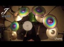 Silent cymbals CHANG cymbals J-series rainbow color for drum set