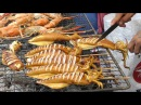 Thai Street Food in Bangkok, Thailand. The Stalls around Central World and Ploenchit