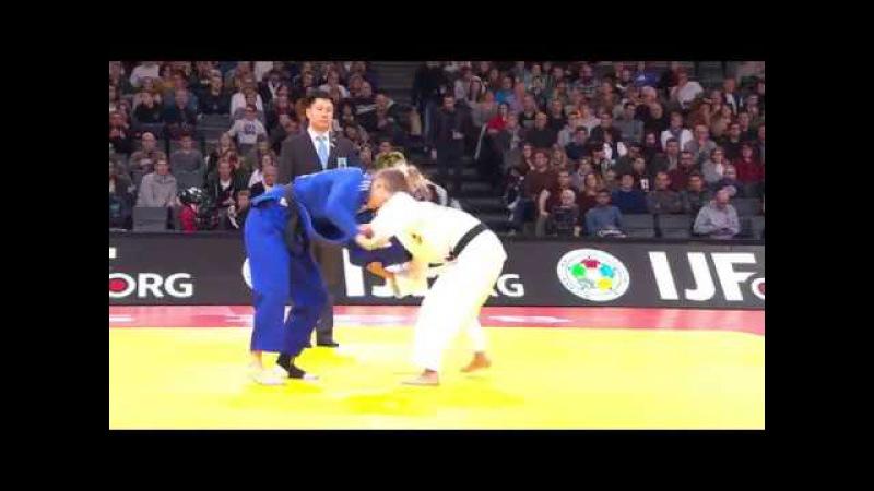 Funa Tonaki JPN - Daria Bilodid UKR 0:1 -48Kg Semi Final Grand Slam Paris 2018