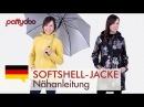 Anleitung Softshelljacke mit abnehmbarer Kapuze Taschen und Reißverschluss nähen