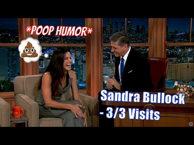 Sandra Bullock - Finds Humor In Craig's Accent Mannerisms - 3/3 Visits In Chron. Order [480-720p]