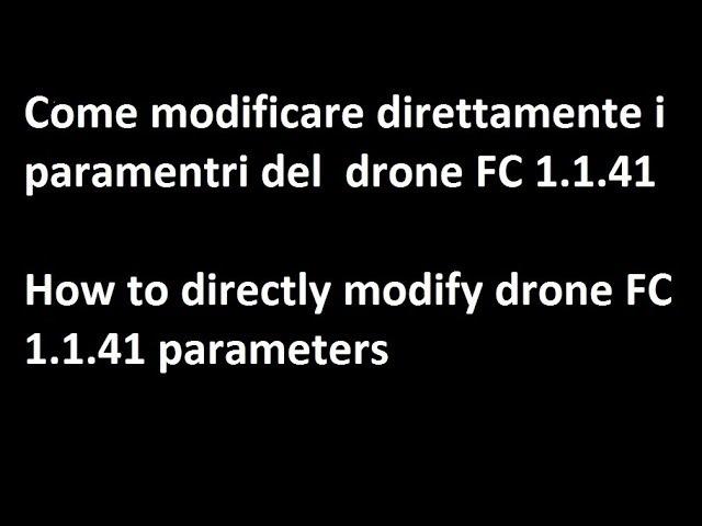 Come modificare direttamente i parametri del drone H501SS Hubsan