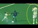 Дети футболистов играют в футбол с отцами | Будущие легенды