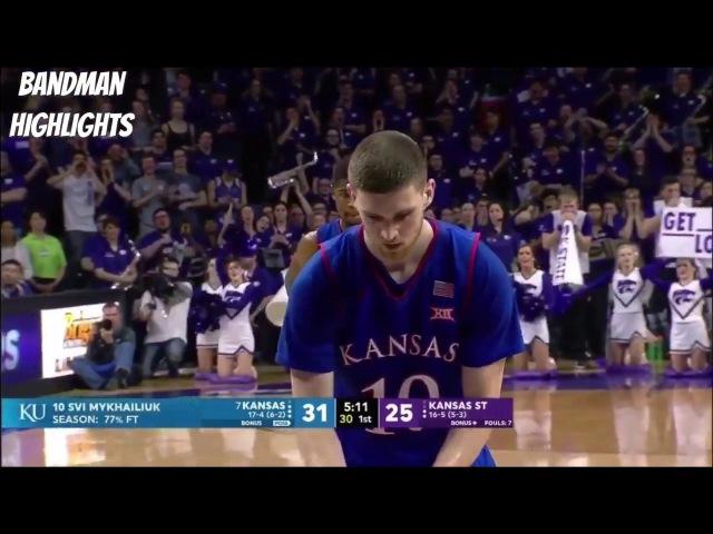 Sviatoslav Mykhailiuk Kansas vs Kansas State 1 29 18 Highlights 22pts 7reb