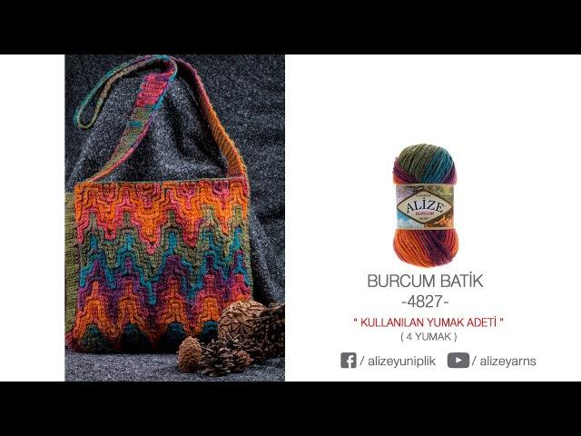 Alize Burcum Batik ile Çanta Yapımı-Making Bag with Alize Burcum Batik