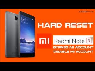 Hard Reset MI Xiaomi Redmi Note 3