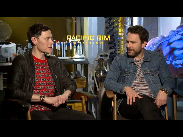 PACIFIC RIM 2 Uprising Interview - Burn Gorman Charlie Day