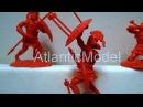 Солдатики 1/32 Conte 300 Спартанцев Set 2 красный цвет
