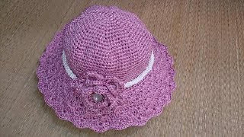 Hướng dẫn móc nón len rộng vành Crochet summer hat tutorial