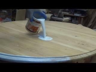 Restoration of the table. Реставрация стола.Как вернуть стол 1906г в современный интерер.Покр... restoration of the table. htcnf