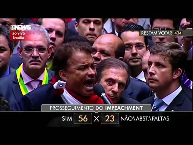 Wladimir Costa, Deputado do PARÁ votando no processo de impeachment da Dilma