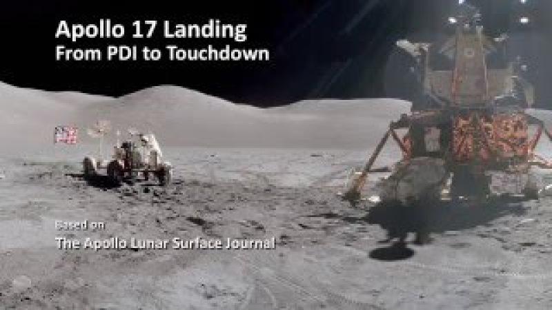 Apollo 17 landing from PDI to Touchdown