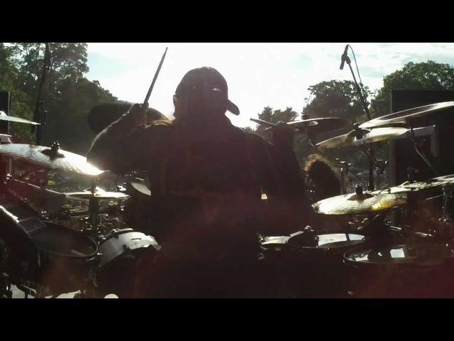 Jason Bittner w/ANTHRAX Fight Em Til You Can't MAYHEM Festival Saratoga, NY 7/31/12 Pt. 3