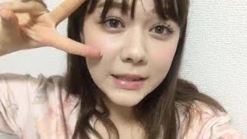 村重杏奈 (HKT48 チームKIV) 2017年09月21日 あーにゃ SHOWROOM 19:32
