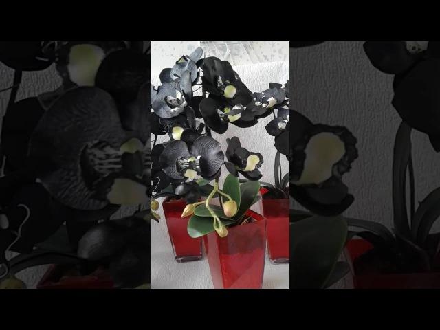 Черные орхидеи из фоамирана, сделаю на заказ