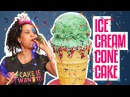 How To Make A Mint Chocolate Chip ICE CREAM CONE in CAKE Yolanda Gampp How To Cake It