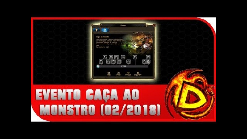 DSO Drakensang Online Evento Caça ao Monstro Fevereiro 2018