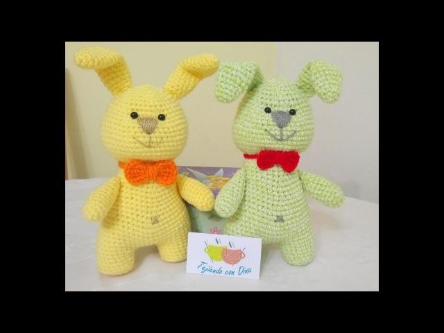Conejos Amigurumi a Crochet TERMINACION Y ARMADO Versión (DIESTRO)