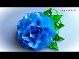 Цветы из лент своими руками Мастер КлассУкрашение на заколкуRibbon FlowerFlores de fitasOla ameS