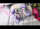 Бантик из репсовой ленты с рисунком МК Канзаши Алена Хорошилова tutorial ribbon bow
