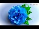 Цветы из лент своими руками Мастер Класс/Украшение на заколку/Ribbon Flower/Flores de fitas/Ola ameS