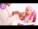 Маруся кормит Беби Борн Игрушка Беби Бон — стульчик для куклы Baby Born High Chair Toy