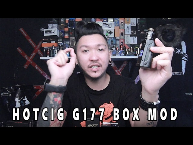HOTCIG G177 COLOUR SCREEN BOX MOD WITH CENTAUR RTA FAST REVIEW
