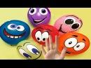 Лопаем воздушные шарики с Глазками. Учим цвета. Песенка семья пальчиков