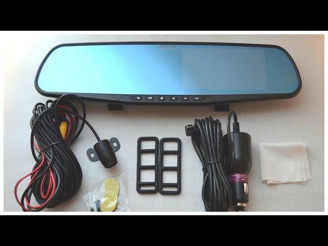 Зеркало видеорегистратор Car DVR Mirror обзор / FULL HD регистратор купить