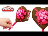How to make Play Doh Ice cream Heart Popsicle out of Play Doh. Valentine's Day Gift for Kids