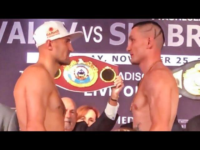 Sergey Kovalev vs Vyacheslav Shabranskyy - WEIGH IN FACE OFF!