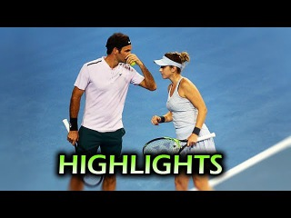 Federer/Bencic (SUI) vs Sugita/Osaka (JAP) ♦ Hopman Cup 2018 (HD) Highlights