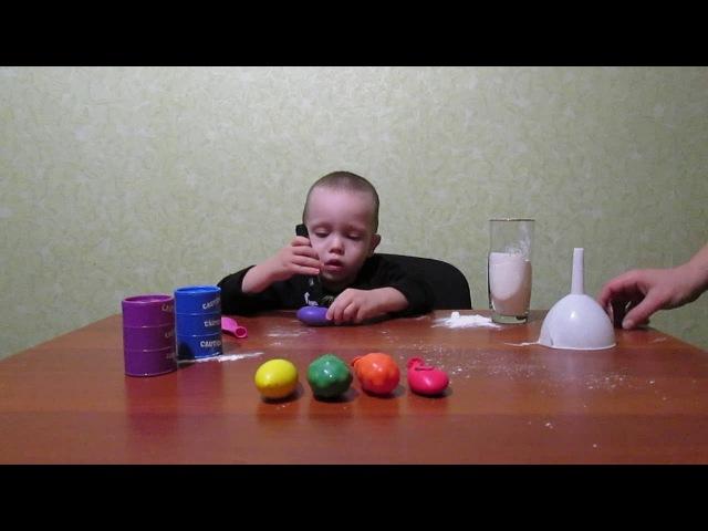 Игры для детей.Играем шариками.Делаем антистресс: орбизы, слизь и мука.