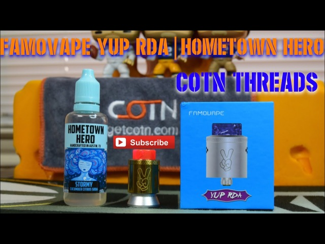 YUP RDA BY FAMOVAPE COTN THREADS STORMY BY HOMETOWN HERO